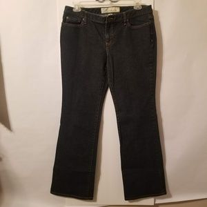 Ann Taylor LOFT Curvy Boot Sz 14 Dark Denim Jeans